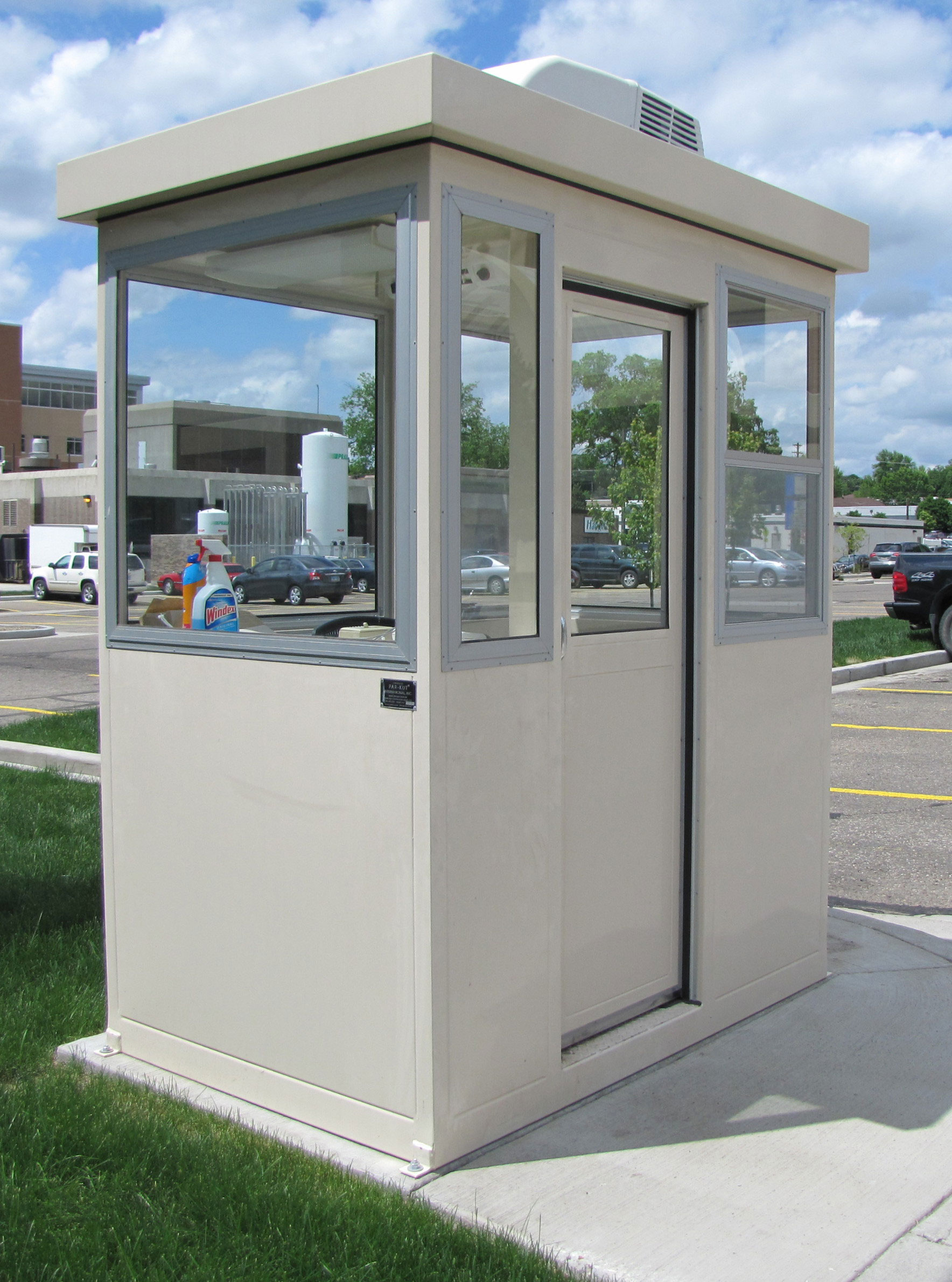 The safest security booths portable steel building