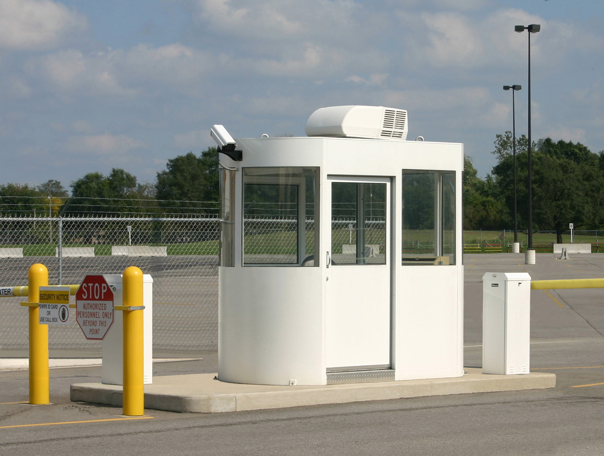 Guard booths for utility plants portable steel building