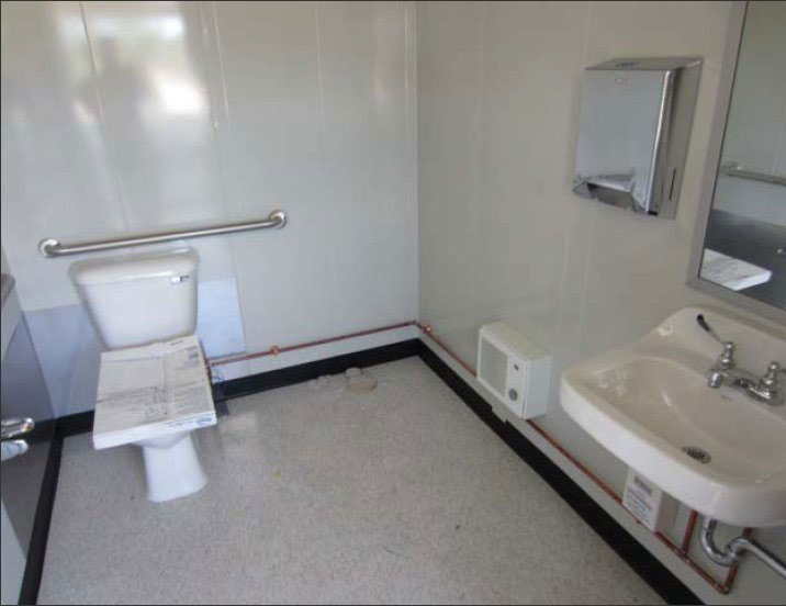 guard booth with bathroom