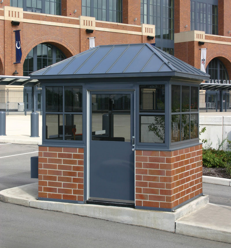 Portable security booths steel building by