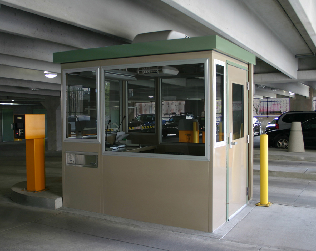 Parking Booth With Security Systems Portable Steel